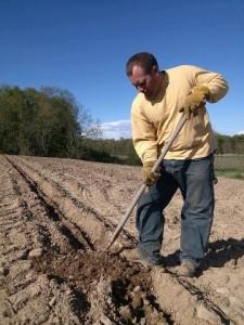 Adam planting vines