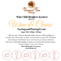 Wine Club Member Wine & Cheese Tasting